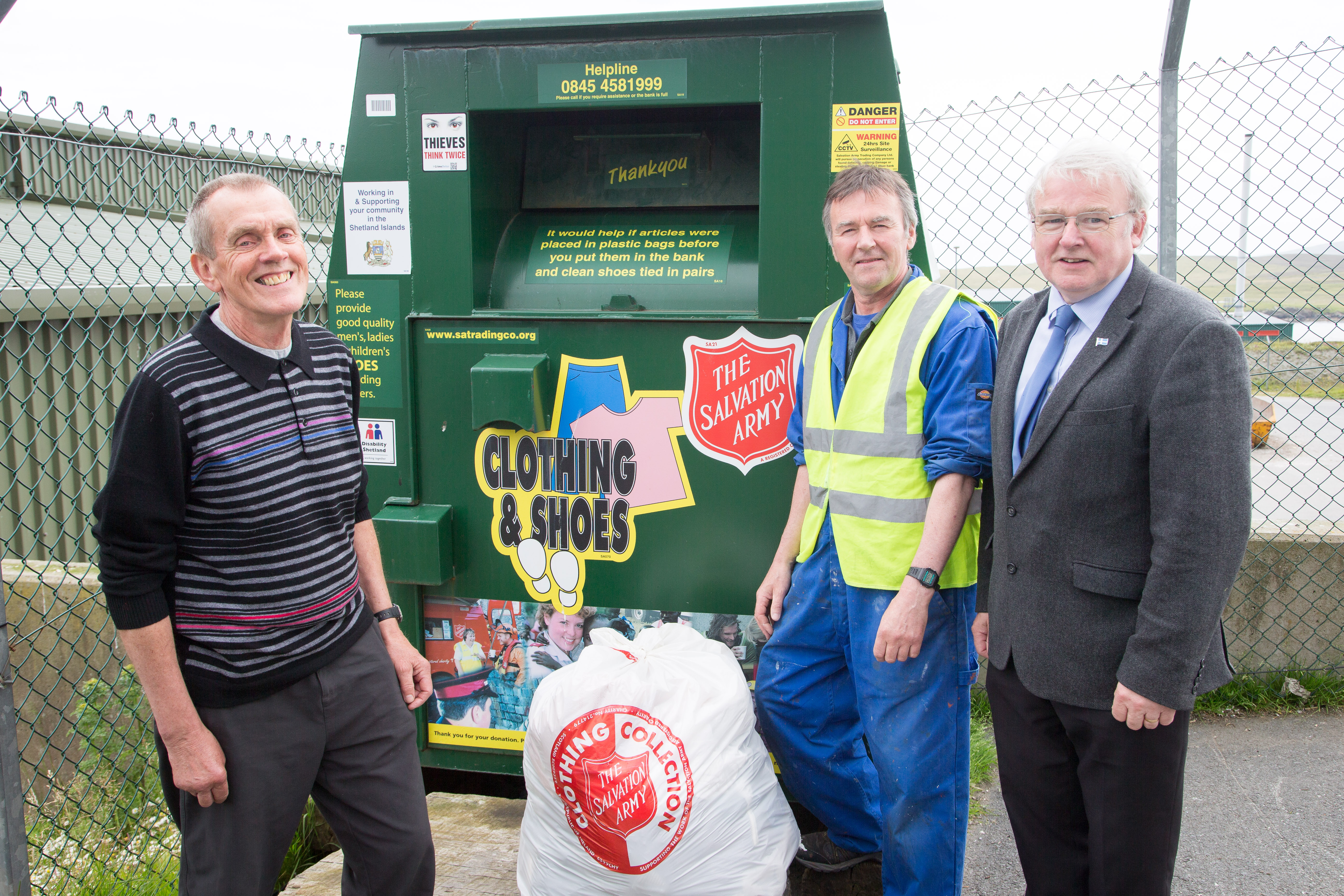 Shetland Islanders put tonnes of effort into clothes collections for the Salvation Army
