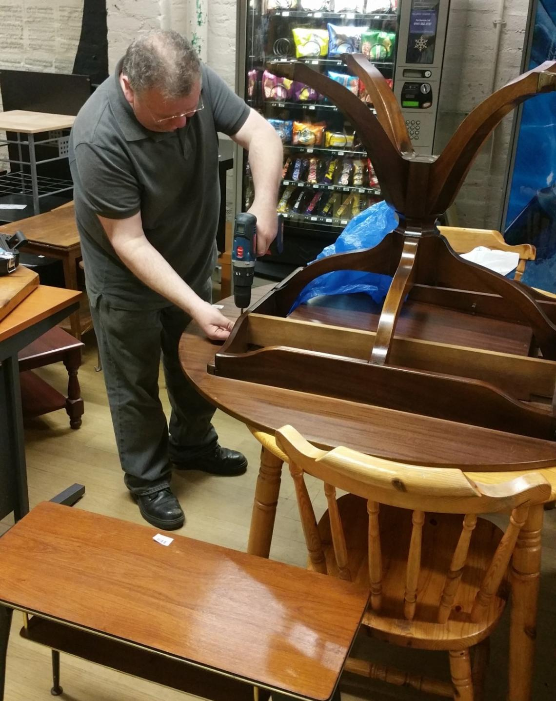 Former Cabinet Maker Restores Furniture To Repay Salvation Army