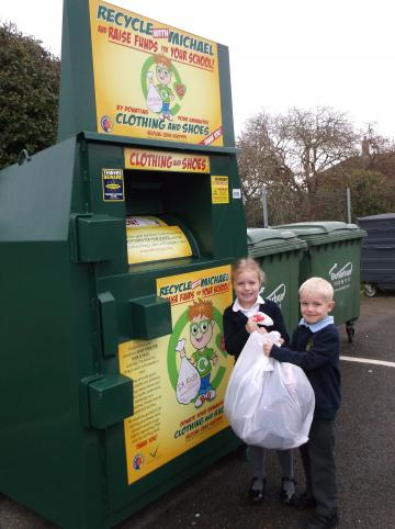 Fourfields Community Primary School rewarded for clothes recycling efforts